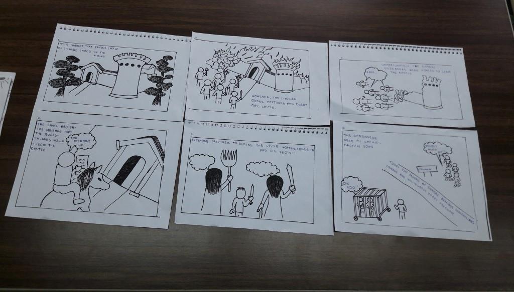Komiksai apie piliakalnius anglų kalba Joniškio žemės ūkio